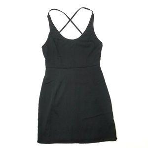 Tobi black criss cross strappy bodycon dress S
